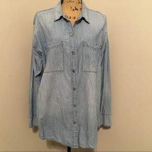 💕Old Navy button down jean shirt. Size XL🛍
